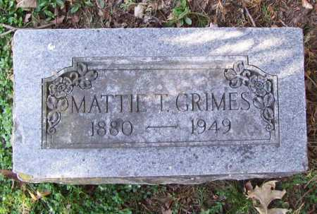 GRIMES, MATTIE T. - Benton County, Arkansas | MATTIE T. GRIMES - Arkansas Gravestone Photos