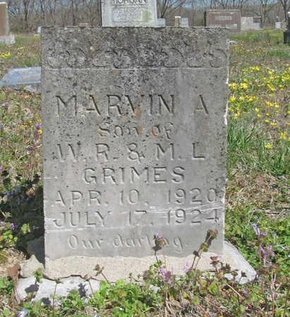 GRIMES, MARVIN A - Benton County, Arkansas | MARVIN A GRIMES - Arkansas Gravestone Photos