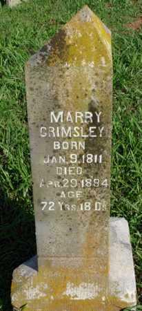 GRIMSLEY, MARRY - Benton County, Arkansas | MARRY GRIMSLEY - Arkansas Gravestone Photos