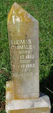 GRIMSLEY, THOMAS - Benton County, Arkansas | THOMAS GRIMSLEY - Arkansas Gravestone Photos