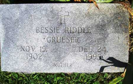 RIDDLE GRUESER, BESSIE - Benton County, Arkansas | BESSIE RIDDLE GRUESER - Arkansas Gravestone Photos