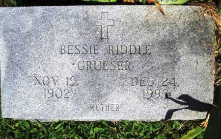 GRUESER, BESSIE - Benton County, Arkansas | BESSIE GRUESER - Arkansas Gravestone Photos