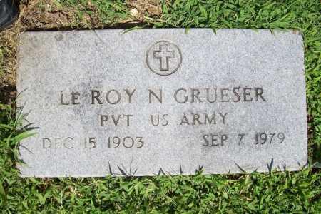 GRUESER (VETERAN), LE ROY N. - Benton County, Arkansas | LE ROY N. GRUESER (VETERAN) - Arkansas Gravestone Photos