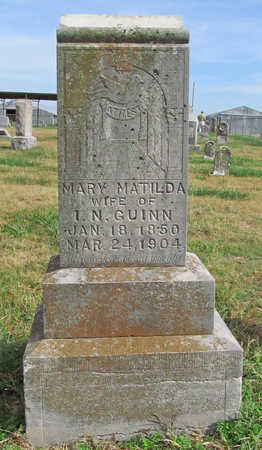 GUINN, MARY MATILDA - Benton County, Arkansas | MARY MATILDA GUINN - Arkansas Gravestone Photos