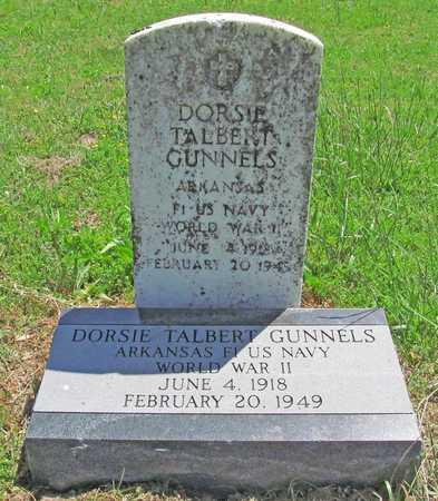 GUNNELS (VETERAN WWII), DORSIE TALBERT - Benton County, Arkansas   DORSIE TALBERT GUNNELS (VETERAN WWII) - Arkansas Gravestone Photos