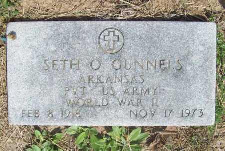 GUNNELS (VETERAN WWII), SETH O - Benton County, Arkansas   SETH O GUNNELS (VETERAN WWII) - Arkansas Gravestone Photos