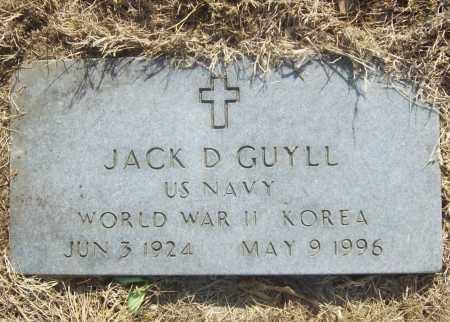 GUYLL (VETERAN 2 WARS), JACK D - Benton County, Arkansas   JACK D GUYLL (VETERAN 2 WARS) - Arkansas Gravestone Photos