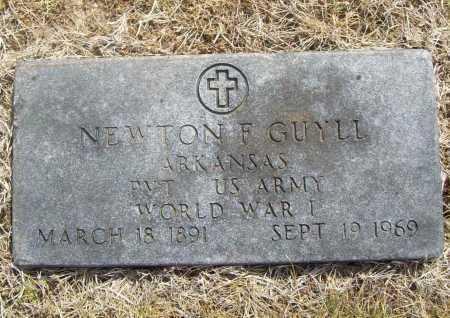GUYLL (VETERAN WWI), NEWTON F - Benton County, Arkansas   NEWTON F GUYLL (VETERAN WWI) - Arkansas Gravestone Photos