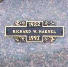 HAENEL, RICHARD W. - Benton County, Arkansas | RICHARD W. HAENEL - Arkansas Gravestone Photos