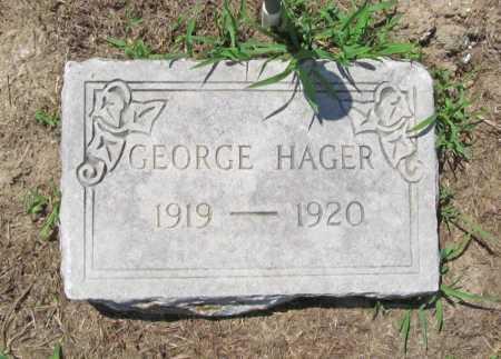 HAGER, GEORGE - Benton County, Arkansas   GEORGE HAGER - Arkansas Gravestone Photos