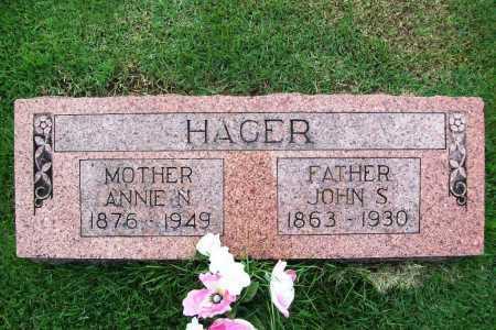 HAGER, ANNIE N. - Benton County, Arkansas | ANNIE N. HAGER - Arkansas Gravestone Photos