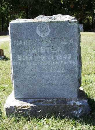 HAISTEN, NANCY MATILDA - Benton County, Arkansas | NANCY MATILDA HAISTEN - Arkansas Gravestone Photos