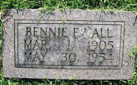 HALL, BENNIE F - Benton County, Arkansas | BENNIE F HALL - Arkansas Gravestone Photos