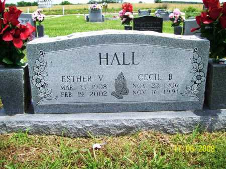 HALL, ESTHER V. - Benton County, Arkansas | ESTHER V. HALL - Arkansas Gravestone Photos