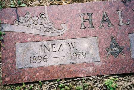 HALL, INEZ W. - Benton County, Arkansas   INEZ W. HALL - Arkansas Gravestone Photos