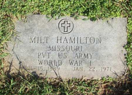 HAMILTON (VETERAN WWI), MILT - Benton County, Arkansas   MILT HAMILTON (VETERAN WWI) - Arkansas Gravestone Photos
