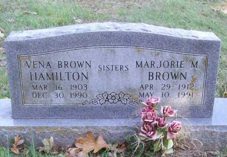 BROWN, MARJORIE M. - Benton County, Arkansas   MARJORIE M. BROWN - Arkansas Gravestone Photos