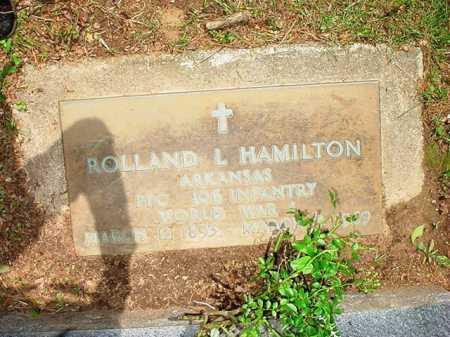 HAMILTON (VETERAN WWI), ROLLAND L. - Benton County, Arkansas   ROLLAND L. HAMILTON (VETERAN WWI) - Arkansas Gravestone Photos