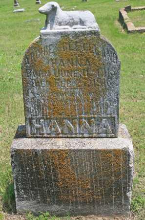 HANNA, ARCHIE CLEVELAND - Benton County, Arkansas | ARCHIE CLEVELAND HANNA - Arkansas Gravestone Photos