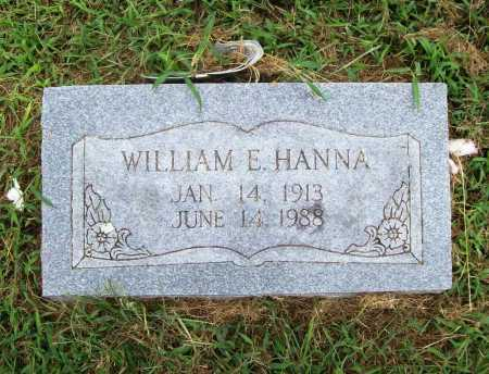 HANNA, WILLIAM E. - Benton County, Arkansas | WILLIAM E. HANNA - Arkansas Gravestone Photos