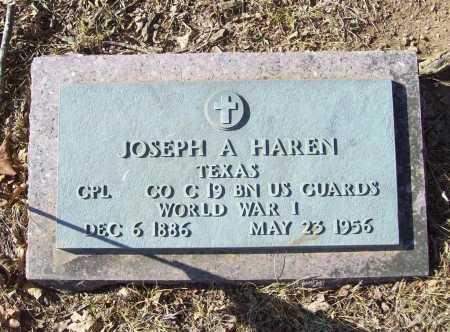 HAREN (VETERAN WWI), JOSEPH A - Benton County, Arkansas | JOSEPH A HAREN (VETERAN WWI) - Arkansas Gravestone Photos