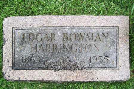 HARRINGTON, EDGAR BOWMAN - Benton County, Arkansas | EDGAR BOWMAN HARRINGTON - Arkansas Gravestone Photos
