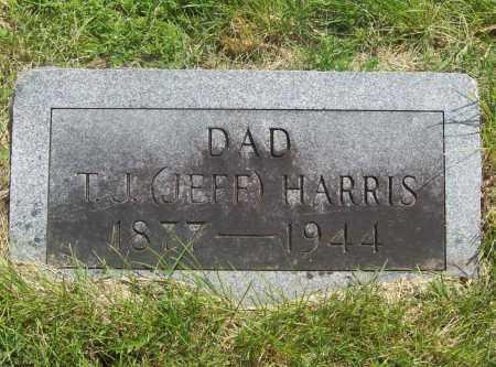 "HARRIS, T. J. ""JEFF"" - Benton County, Arkansas | T. J. ""JEFF"" HARRIS - Arkansas Gravestone Photos"