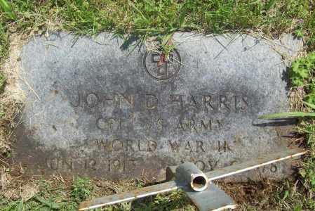 HARRIS (VETERAN WWII), JOHN D - Benton County, Arkansas | JOHN D HARRIS (VETERAN WWII) - Arkansas Gravestone Photos