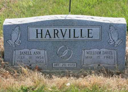 HARVILLE, JANELL ANN - Benton County, Arkansas   JANELL ANN HARVILLE - Arkansas Gravestone Photos