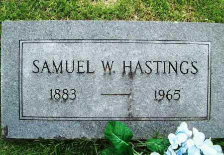 HASTINGS, SAMUEL W. - Benton County, Arkansas   SAMUEL W. HASTINGS - Arkansas Gravestone Photos