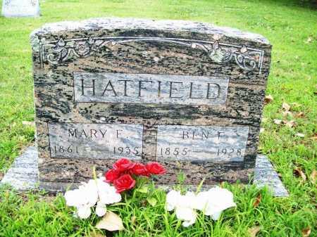 HATFIELD, BEN F. - Benton County, Arkansas   BEN F. HATFIELD - Arkansas Gravestone Photos