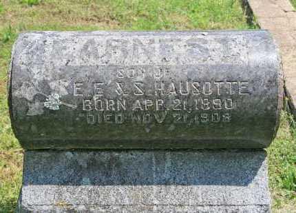HAUSOTTE, EARNEST - Benton County, Arkansas   EARNEST HAUSOTTE - Arkansas Gravestone Photos