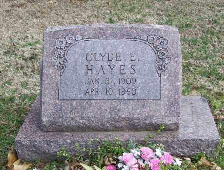 HAYES, CLYDE E. - Benton County, Arkansas | CLYDE E. HAYES - Arkansas Gravestone Photos