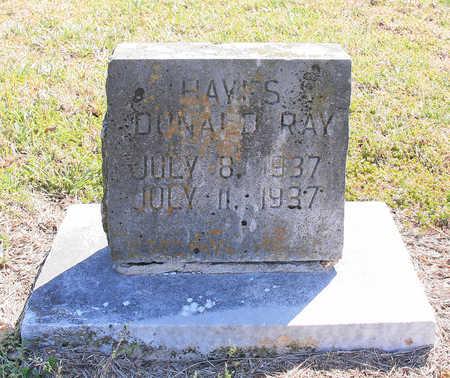 HAYES, DONALD RAY - Benton County, Arkansas   DONALD RAY HAYES - Arkansas Gravestone Photos