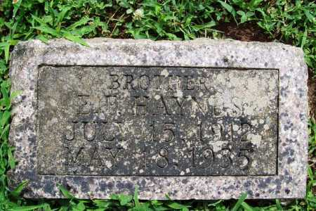 HAYNES, E. F. - Benton County, Arkansas | E. F. HAYNES - Arkansas Gravestone Photos