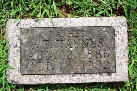 HAYNES, F. T. - Benton County, Arkansas   F. T. HAYNES - Arkansas Gravestone Photos