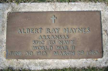 HAYNES (VETERAN WWII), ALBERT RAY - Benton County, Arkansas | ALBERT RAY HAYNES (VETERAN WWII) - Arkansas Gravestone Photos