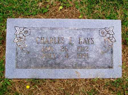 HAYS, CHARLES E. - Benton County, Arkansas | CHARLES E. HAYS - Arkansas Gravestone Photos