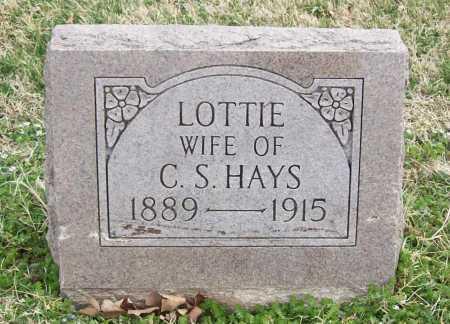 HAYS, LOTTIE - Benton County, Arkansas | LOTTIE HAYS - Arkansas Gravestone Photos