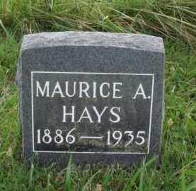 HAYS, MAURICE A. - Benton County, Arkansas | MAURICE A. HAYS - Arkansas Gravestone Photos