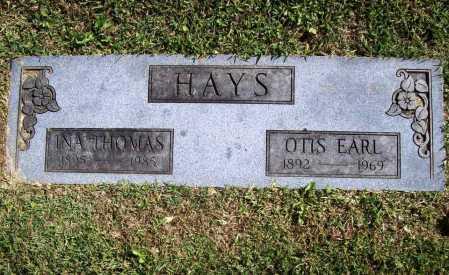 HAYS, INA - Benton County, Arkansas | INA HAYS - Arkansas Gravestone Photos