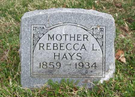 HAYS, REBECCA L. - Benton County, Arkansas | REBECCA L. HAYS - Arkansas Gravestone Photos