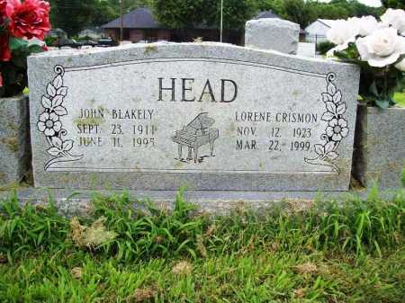 HEAD, JOHN BLAKELY - Benton County, Arkansas | JOHN BLAKELY HEAD - Arkansas Gravestone Photos