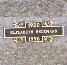 HEDEMANN, ELIZABETH - Benton County, Arkansas | ELIZABETH HEDEMANN - Arkansas Gravestone Photos