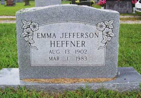 JEFFERSON HEFFNER, EMMA - Benton County, Arkansas | EMMA JEFFERSON HEFFNER - Arkansas Gravestone Photos