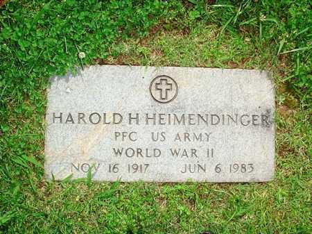 HEIMENDINGER (VETERAN WWII), HAROLD H. - Benton County, Arkansas   HAROLD H. HEIMENDINGER (VETERAN WWII) - Arkansas Gravestone Photos