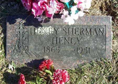 HENCY, HENRY SHERMAN - Benton County, Arkansas | HENRY SHERMAN HENCY - Arkansas Gravestone Photos