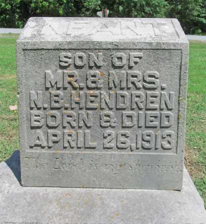 HENDREN, INFANT SON - Benton County, Arkansas | INFANT SON HENDREN - Arkansas Gravestone Photos