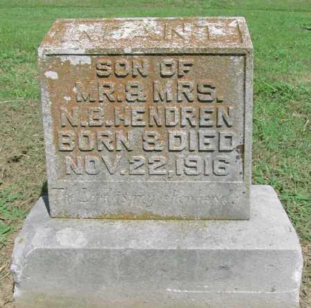 HENDREN, INFANT SON - Benton County, Arkansas   INFANT SON HENDREN - Arkansas Gravestone Photos