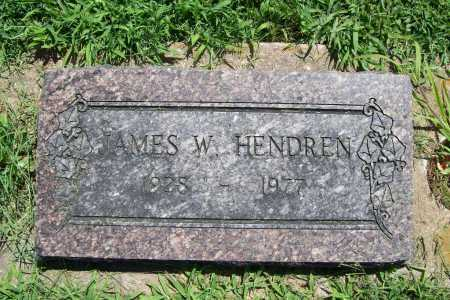 HENDREN, JAMES W. - Benton County, Arkansas | JAMES W. HENDREN - Arkansas Gravestone Photos